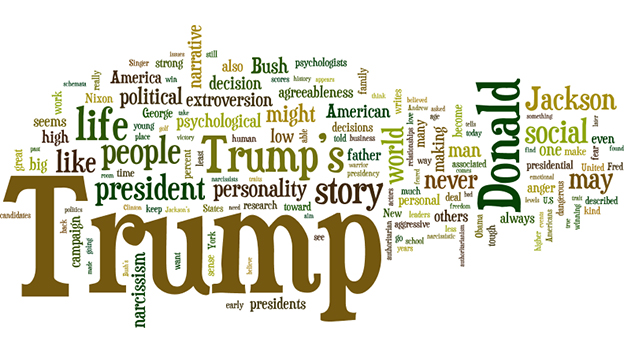 Trump word collage
